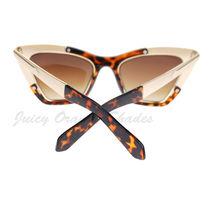 Retro Designer Sunglasses Trapezoid Cateye Runway Fashion Shades image 15