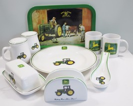 John Deere Table Set Pieces Napkin Butter Salt ... - $72.39