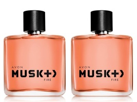 Avon Musk Plus Fire For Men Eau De Toilette Spray - Lot of 2- New in Box - $28.50