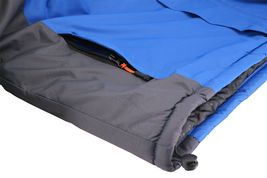 Men's Quilted Lined Removable Hood Two Toned Zipper Puffer Lightweight Jacket image 7