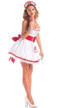 Sexy Party King Naughty Nurse White Halter Mini Dress Costume PK308 - $51.99+