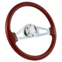 "1970 - 77 Ford Truck F100 F150 F250 15"" Wood & Chrome Aviator Steering Wheel - $169.99"