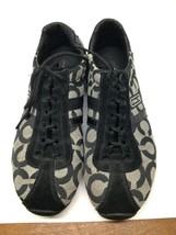 Women's Coach Kathleen Lace-up Black Signature C Tennis Shoes – Size 7 M - $22.28