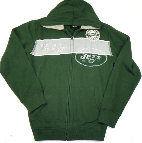 Small Men's New York Jets Hoodie NFL Year EST. Full Zip Hooded Sweatshirt G-III