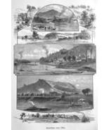 OHIO STATE Views Cincinnati Patriot Parkersburg Bellevue - 1883 German P... - $16.20