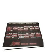 2008 Arizona DiamondBacks Baseball team Postcard Schedule 11 total  - $19.79