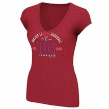 Texas Rangers Women's Follow Your Team V-Neck T-Shirt Red Small NWT Ships Free! - $14.50
