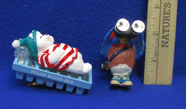 1993 Hallmark Keepsake Bird-Watcher Figure & Water Bed Snooze Ornaments Lot of 2 - $11.87