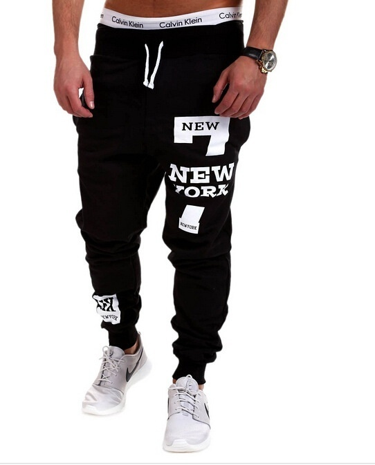 Primary image for Fitness Pants NEWYORK Letter Hip Hop Printing Design Men's Casual Pants