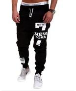 Fitness Pants NEWYORK Letter Hip Hop Printing Design Men's Casual Pants - $43.56