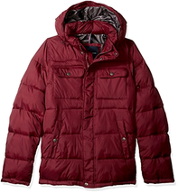 Tommy Hilfiger Men's Plus Size Tall Nylon Two Snap Pockets Hooded Puffer... - $59.38+