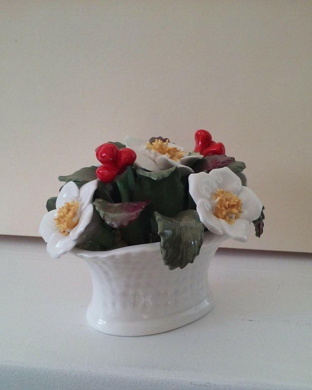 Vintage Aynsley Bone China December Christmas Rose Basket hand painted bouquet image 3