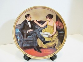 Flirting in the Parlor Rockwell Rediscovered Women KNOWLES Collector Pla... - $15.60