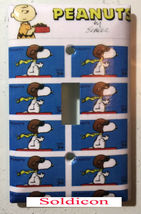 Peanuts Snoopy US Stamps Light Switch Power Outlet wall Cover Plate Home Decor