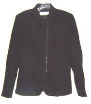 Sz 9 - Tahari Arthur S. Levine Black Zip Up Suit Jacket Size 9 - $37.99
