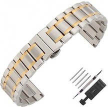 Weelovee Double Buckle Clasp Stainless Steel Bracelet Watch Band For Me... - $39.67