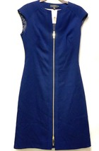 Ted Baker Navy Blue Kwyli Structured Zip Front Peplum BodyCon Sheath Dre... - $83.60