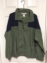 Men's 90s Columbia Navy Green Windbreaker Jacket Coat sz L - $17.60