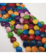 Natural White Jade Beads, 3D Graven Heart, Dyed, Colorful, about 20mm lo... - £19.97 GBP