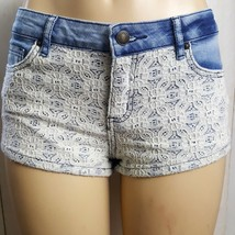 Forever 21 Lace Jean Shorts Size 26 Womens EUC - $7.60