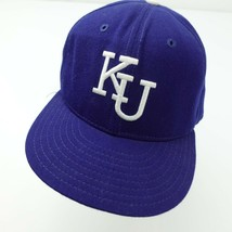 Kansas Jayhawks Vintage New Era Pro Model Fitted 7 1/8 Baseball Ball Cap Hat - $29.69