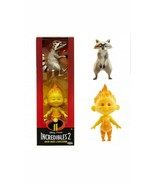 Disney Pixar Incredibles 2 Fire Jack-Jack and Raccoon Action Figures Set... - $10.79
