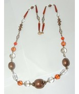 Vtg Chunky Runway  Statement necklace 33'' inches long  - $15.85