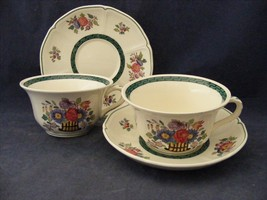 2 Wedgwood Floral 1922  Cup & Saucers  Eturia England - $14.00
