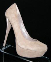 Steve Madden 'Caryssa' brown suede pump gloss heel platform shoe heel 6.5M - $9.04
