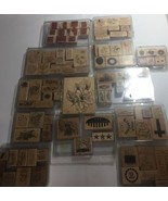 Stampin' Up! Lot of 105 Wood Mount Stamps Used Look! - $112.19