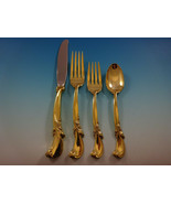 Waltz of Spring Gold by Wallace Sterling Silver Flatware Service Set 12 Vermeil - $4,195.00