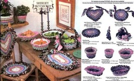 Rag rug crochet patterns: baskets, placemats, casserole cozies, chair pa... - $17.95