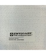 Interlock Needlepoint Canvas 18 Count Silver & White Custom Cuts Available - $8.08+