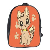 Backpack School Bag Cat Cute Funny Beautiful Kitten Animal Editions In Popular G - $33.00