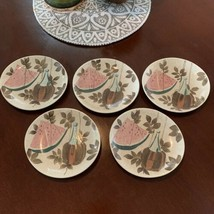 Red Wing Pottery Tampico Pattern SALAD/SNACK PLATES, 5 Avail, Priced Sep... - $15.79