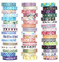 48 Rolls Washi Tape Set - 8mm Wide Decorative Masking Tape, Colorful Flo... - $22.16