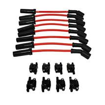 """A-Team Performance D510C Ignition Coils & 8"""" 8.0mm Spark Plug Wires Compatible W"""