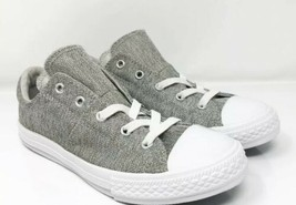 Converse Girls Chuck Taylor All Star MADDIE OX 662122F Grey Running Shoes Sz 5 - $34.64
