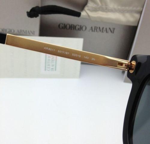 Originale Giorgio Armani Occhiali da Sole Adirise 8011 5017/87 Nero & Oro