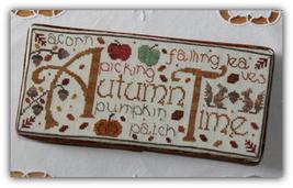 Autumn Time fall cross stitch chart New York Dreamer - $7.20