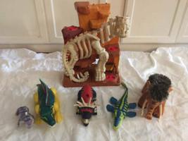 Fisher Price Imaginext Dinosaur Mountain Skeleton Lot Woolly Mammouth - $98.99
