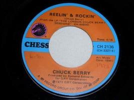 CHUCK BERRY REELIN & ROCKIN LET'S BOOGIE 45 RPM RECORD VINYL CHESS LABEL - $14.99