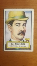 1952 Topps Look 'N See #62 Bat Masterson Western Sherriff - $6.93