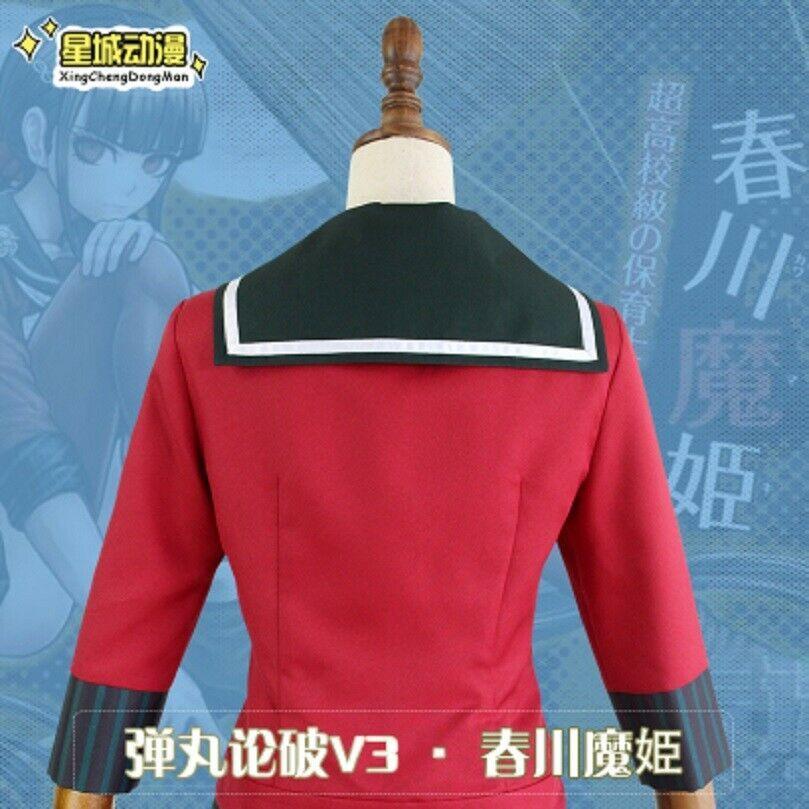 Danganronpa V3 Harukawa Maki Girl School Uniform Sailor Uniform Cosplay Costume