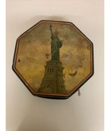 Vintage Loose Wiles Biscuit Company Statue of Liberty Metal Tin Containe... - $28.04