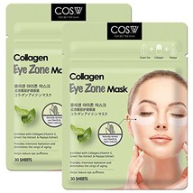 COS.W Smoothing Collagen Eye Pads2 Pack of 30 Sheets with Vitamin E for Dark Cir