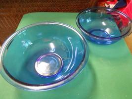"""Great Set Of 2 Pyrex """"Cobalt"""" Mixing Bowls - $11.49"""