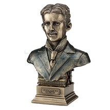 Unicorn Studios WU76914A4 Nikola Tesla Statue on Induction Motor Plinth ... - $80.61