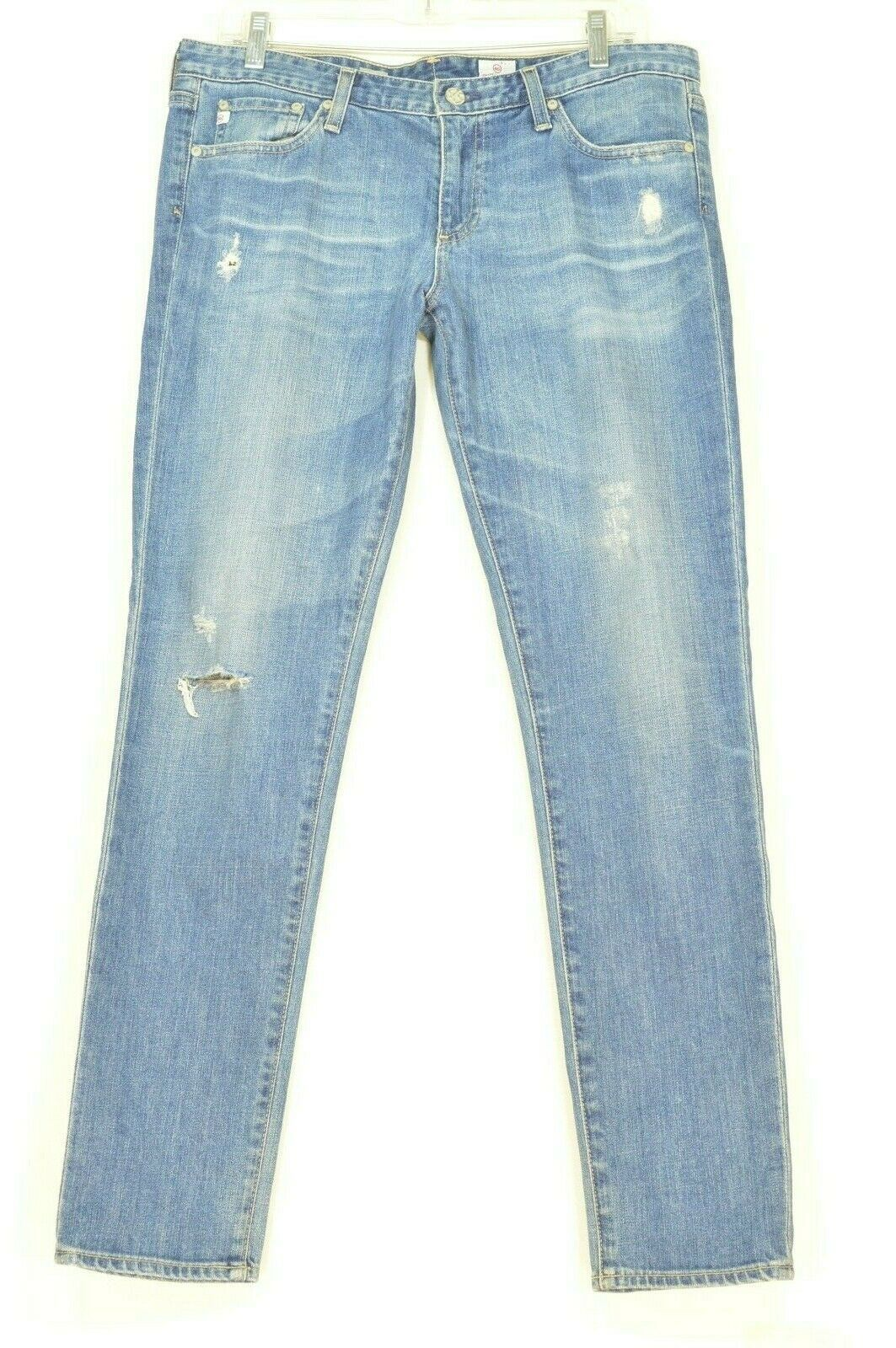 AG Adriano Goldschmied jeans 31 x 31 Stilt cigarette leg 17Y - SVT destroyed USA