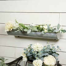 "24"" Metal Wall Planter Decorative Natural Metal Tray Style Wall Mount Pl... - $42.95"